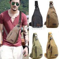 1PCS Trendy Men's Small Canvas Military Messenger Shoulder Travel Hiking Backpack Fanny Bag Crossbody Bags Student School Bag