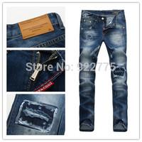 28-36#KPDSQ511,2014 Fashion Famous Brand D2 Jeans Men,High Quality Ripped Jeans For Men,Dark Color Cotton Denim True Jeans Men