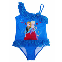 Retail 3-10y girls swimsuit Frozen Elsa anna cute bathing suits tutu Children's set one pieces kids swimwear Bikini Free Shiping