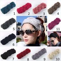 Multicolor 2014 new style women's fashion knit crochet donuts warm wool knit headband for girls,10 pcs/lot Free shipping
