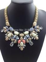 2014 New Arrival Fashion ZA Shourouk Necklace Pendants Vintage Clain Exaggerated Choker Statement Necklace