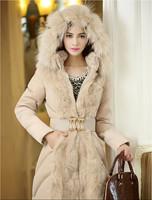 2014 Luxury Style Women Winter Long Down & Parkas Thick Ladies Elegant Fur Collar Outerwear Coat S-XL Winter Women Coat  A079