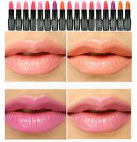 2014 New Brand Cosmetic Professional Makeup Lip Lipstick Long Lasting Nude Matte Lip Gloss Moisturizing Lip Balm 15 Colors
