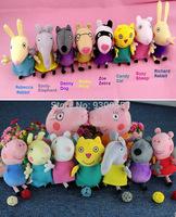 Baby Girls Boys Newborn Kids Children George Peppa Pig Daddy Mommy Family Plush Toys Cartoon Stuffed Animals Dolls Brinquedos