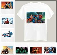 Marvel DC Comics Superman Iron Man Hulk Printed Tshirt For Women Men Short Sleeve Unisex Cotton Casual White Shirt XXXL ZY055-07