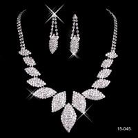 In stock 2014 New Arrival Womens Bridal wedding pageant wedding jewelry Rhinestone bridal jewelry sets wedding accessories 15045