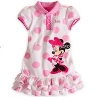 Free Shipping !Children girls  Dot Short-sleeved Dress Girls Summer Dress Children's Clothing