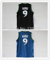 2 Colors Ricky Rubio Basetball Jerseys  Camisetas New Material  Ricky Rubio Sport Shirt  Size:S-XXXL Free Shipping