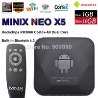 MINIX NEO X5 Android TV Box PC Dual Core 1.6GHz 1G RAM 8G ROM WiFi USB RJ45 HDMI XBMC Media Player Smart Set Top Box Receiver