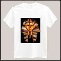 Egyptian Pharaoh Printed Tshirt For Women Men Short Sleeve Unisex Cotton Casual White Shirt Top Tee XXXL Big Size ZY055-09