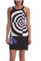 2014 Summer Women Dress Casual Print Geometric Black Dress Sexy Party Floral Dress Bohemian Lady Dress Off Shoulders DG009