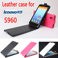 NEW Original Lenovo S960 VIBE X  Leather Case Luxury  Flip Cover High Quality Black White Rose Color In Stock Freeshipping