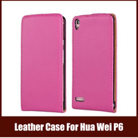 Case For Huawei P6,Luxury Leather Phone Bag For Huawei With Magnetic Closure,11Colors Free Shipping
