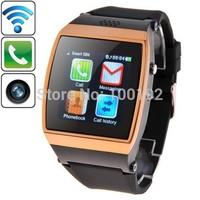 Freeshipping 1.55 inch 0.3 Megapixels Ultra HD IPS Screen Touch GSM Celular Phone Call&Bluetooth Smart Watch, Surpport Music,FM