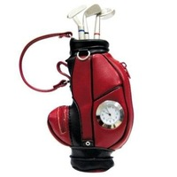 Free Shipping 2014 Hot Selling Pretty Gift Colorful Golf Pen Holder With Table Clock