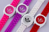 men sports watches 2014 AD Brand 3 Leaf Grass Sport Men Women Quartz Watch, Silicone Bracelet Wristwatch Relogio DHL Free ship