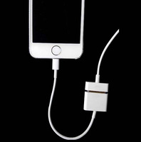 DHL Free Shipping 500Pcs/Lot 30 Pin to 8 Pin Charger Adapter Cable For iPhone 5 5S 5C Turn in to iPhone 4  Support iOS 7 iOS 8