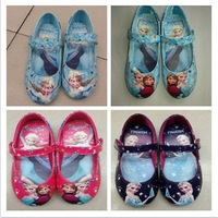 Girls frozen elsa shoes 2014 hot sell frozen shoes blue girls flats kids children shoes High Quality princess girls shoes