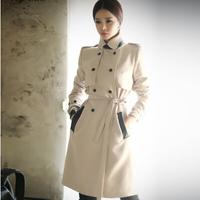 2014 New  Women Long Windbreaker, European Fashion Stylish,Double Breasted Jacket Women Trench Coat