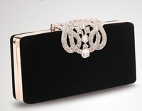 2014 New Upscale Ladies Evening Bags Fashion Crystal Crown Women's Clutches With Shoulder Chain For Wedding Prom Party M100