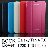 Business 1:1 Original Folding Slim Smart PU Leather Case Book Cover for Samsung Galaxy Tab 4 7.0 T230 T231 T235 Tablet Cases