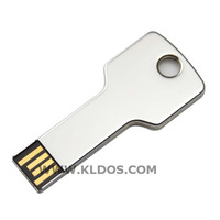 Promotional Products Lot 100 Bulk USB Flash Drive Key Shape PenDrive USB Key  custom gifts Free Logo Silver