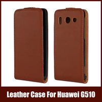 11Colors Luxury Leather Phone Bag For Huawei With Magnetic Case For Huawei G510,Free Shipping