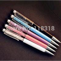 (5 Pcs/Lot) 30 Styles Zakka caneta Stationery Crystal Metal Pen Diamond Ballpoint Pens Touch Screen Gift Pen