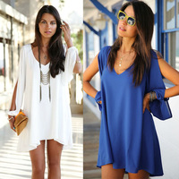 2014 New Women Tops Clothing Loose Chiffon Shirt Summer Candy Color Puff  Hollow Out Long Sleeve Chiffon Blouse Plus Size lyq130