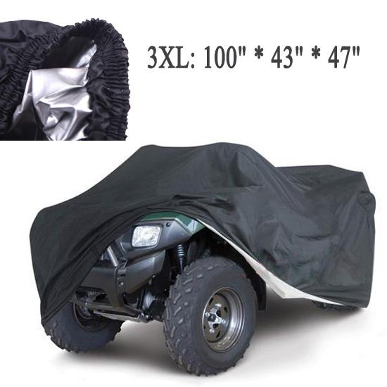 Universal Quad Bike ATV Cover Parts Motorcycle Vehicle Car Covers Dustproof Waterproof Resistant Dustproof Anti-UV Size 3XL(China (Mainland))