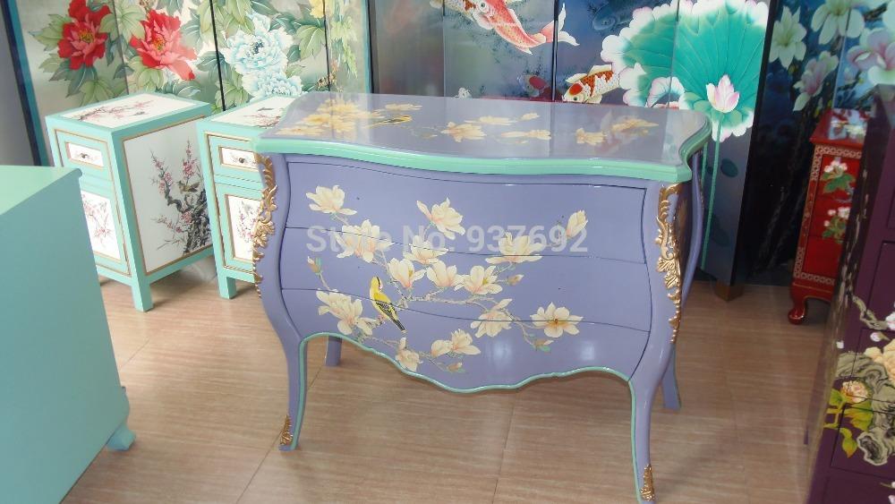 Online kopen wholesale geschilderde antieke meubels uit - Muebles pintados a mano fotos ...