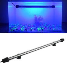 Free Shipping Aquarium Fish Tank 2.5W 18cm 6 LED 5050 SMD Blue White Lights Bar Underwater Submersible Waterproof Clip Lamp(China (Mainland))