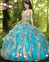 2014 Top Quality Ball Gown Crystal Wedding Dress Rhinestone Sweetheart Princess Bridal Gowns Cake Wedding Dresses 0796