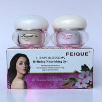 2014 New Arrival FEIQUE cherry blossoms refining nourishing facial cream anti freckle cream 20g+20g crazy promotion face care
