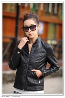 Free shipping spring autumn new fashion large size women's  PU leather coat M L XL XXL XXXL 4XL leather coat