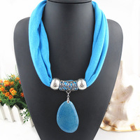 New design necklace scarf agate Pendant Jewelry short Scarves