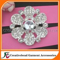 charming flower shape rhinestone brooch pin for wedding dress