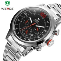 Watch Man WEIDE brand watches men military waterproof quartz watches stainless steel 30m water resistant diving Wristwatches