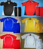 Free shipping Paintless soccer jersey blank football training soccer jersey short-sleeve set jersey Sportwear L~3XL Kids Soccer