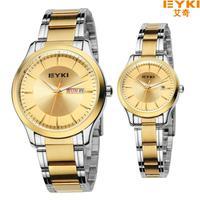 Man and Woman Watch Fashion Elegant New style Quartz Watch Eyki Lovers Stainless steel Calendar Watches Women Luxury Brand