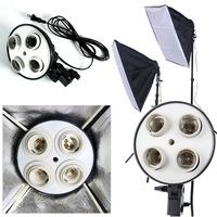 2014 New Photo Video Studio 50 x 70cm 4in1 4x head Socket Lighting Lamp Softbox#F30120