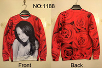 2014 New fashion novelty funny printed 3D jogging suits for women Galaxy sweatshirts plus size marilyn monroe sweatshirt