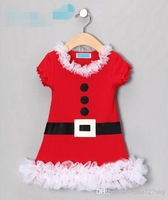 2014 new arrival autumn fashion baby girls Xmas dress pure cotton short sleeve children christmas dresses JL-207