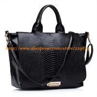 Hot Brand Women Serpentine Handbag Lady Fashion High Quality Leather Shoulder Bag Black/Blue/Apricot/Wine