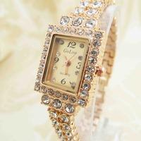 Wholesale Rose Gold women wristwatches ladies fashion quartz watch rhinestone Women dress watches 0G8