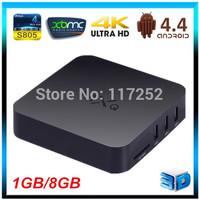 MXQ Android 4.4 Amlogic s805 Quad Core 1GB RAM 8GB ROM XBMC WIFI LAN Airplay Miracast 3D H.264/H.265 Smart google tv box
