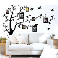 1PC Family Tree Wall Decal Remove Wall Stick Photo Tree Wall Stickers Memory Tree Photo Frame New 2014 Vinyl Wall Decals