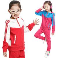 2014 Autumn/Winter Sport Children Clothing Set Coat+Pants Kids Tracksuit Sets Sport Suit Girls Clothing Sets Conjunto De Roupa