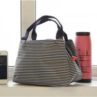New fashion High quality parallel-chord waterproof stripe lunch tote bag women's handbag  multifunction shopping  bag