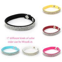 2014 New Fashion Aliexpress hot 4 Layer Leather Bracelets for women austria crystal Charm Bracelet wholesale 5 pieces W4B5